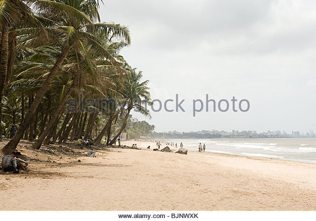 Mumbai beach - Stock Image
