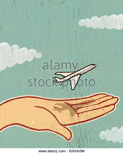 A Small Plane Taking Off - Stock Image