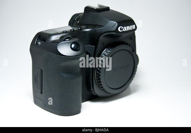 canon digital camera dslr slr advance 40d eos Japanese black product isolated - Stock Image