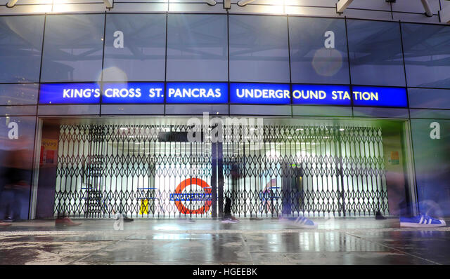 London, UK. 9th January 2016. Kings Cross Underground station was closed today as a result of a 24 hour strike by - Stock Image