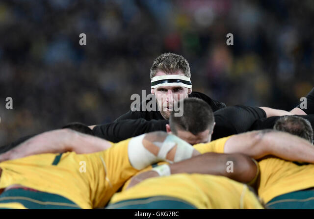 Sydney, Australia. 20th Aug, 2016. The Rugby Championship and Bledisloe Cup. Australia verses New Zealand. All Blacks - Stock Image