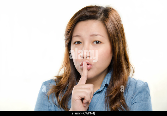 Showing silent sign - Stock Image