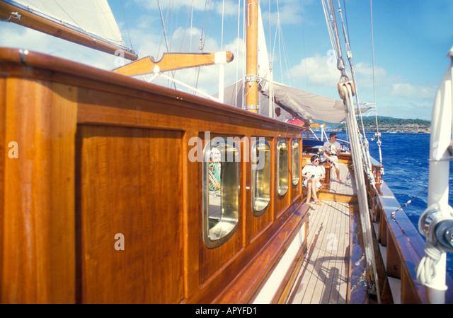 Antigua Sailing Classic Yacht Caribbean - Stock Image