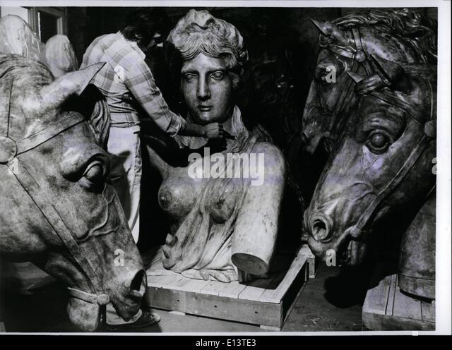 Mar. 27, 2012 - Exhibition ''Berlin And The Antique'' The plaster cast of God Victoria of the Brandeburger - Stock-Bilder