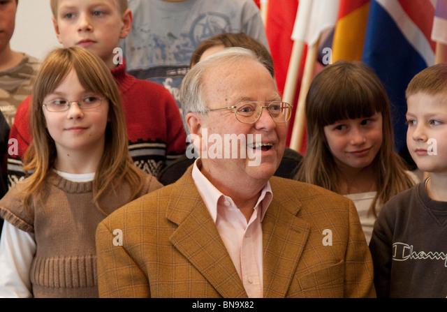 Chess Grandmaster Wolfgang Uhlmann, before the European Senior Team Tournament in Dresden, Germany, February 2010. - Stock Image