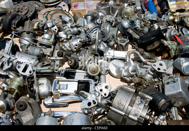 Cars parts antiques. - Stock Image