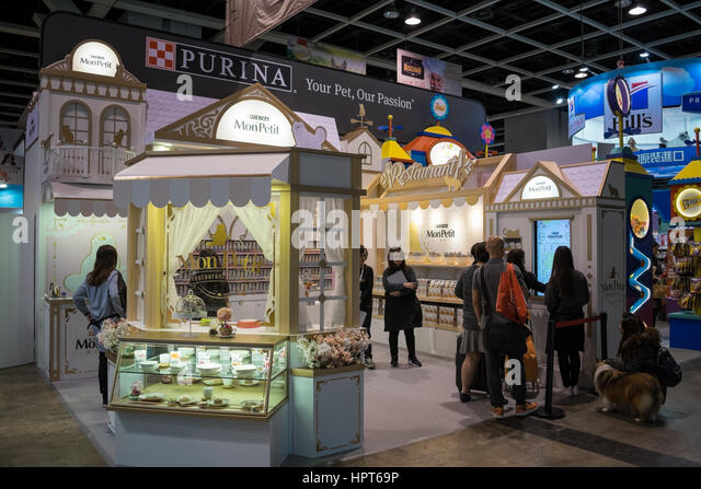 Exhibition Booth Rental Hong Kong : Purina stock photos images alamy