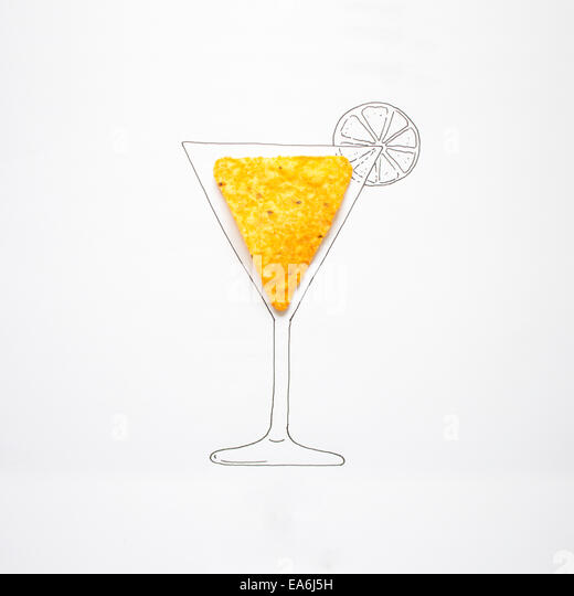 Conceptual drawing of cocktail - Stock-Bilder