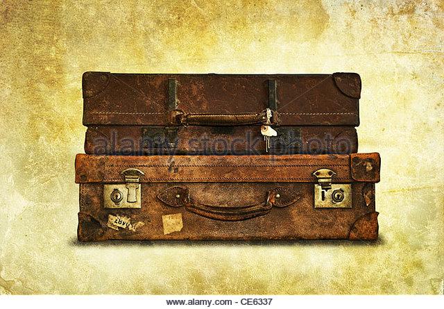 vintage luggage - Stock-Bilder
