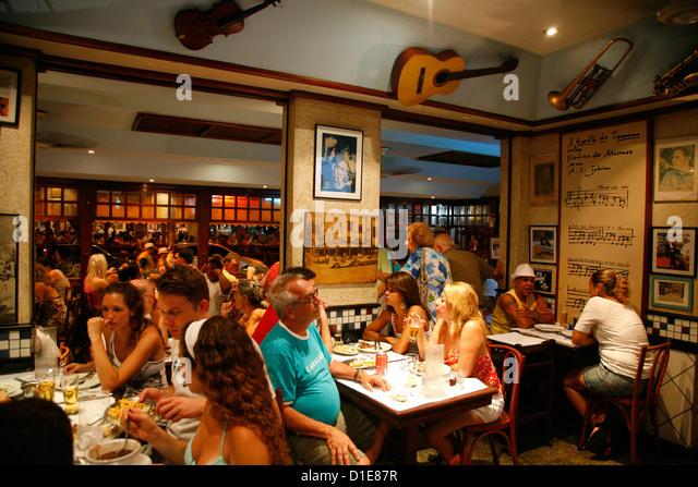The famous A Garota de Ipanema bar, Rio de Janeiro, Brazil, South America - Stock Image