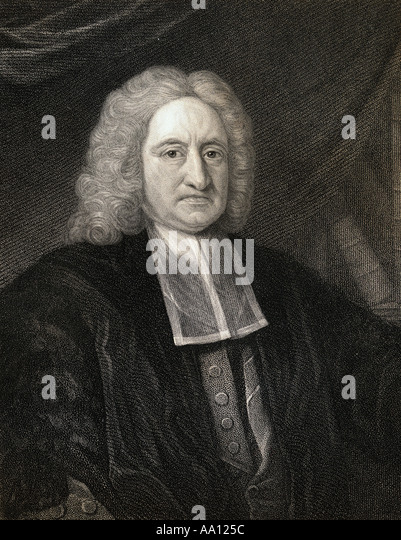 Edmond Halley 1656 1742.  English astronomer and mathematician - Stock Image