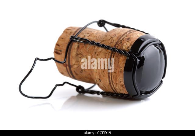 Champagne cork - Stock Image