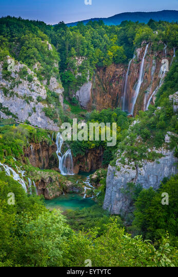 Plitvice Lakes National Park is one of the oldest national parks in Southeast Europe and the largest national park - Stock-Bilder