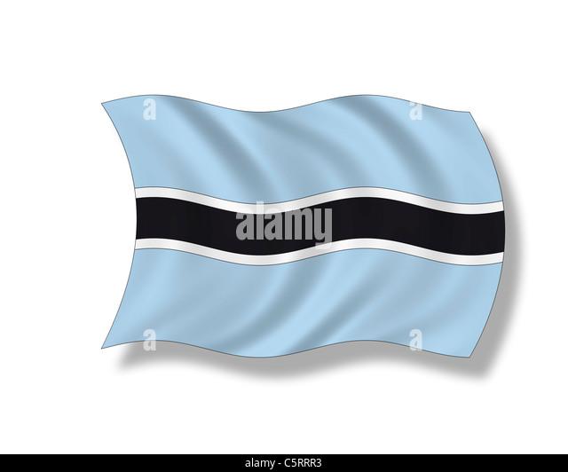 Illustration, Flag of Botswana - Stock Image