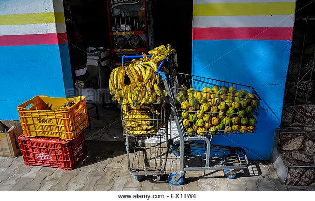 supermarket Morro de sao paulo Brazil south america - Stock Image