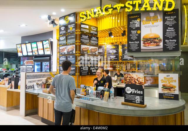 Queen street mall stock photos queen street mall stock for Australian cuisine brisbane