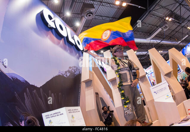 Madrid, Spain. 20th January, 2016. Fitur, International Travel and Tourism Fair, at IFEMA. Credit:  ABEL F. ROS - Stock Image