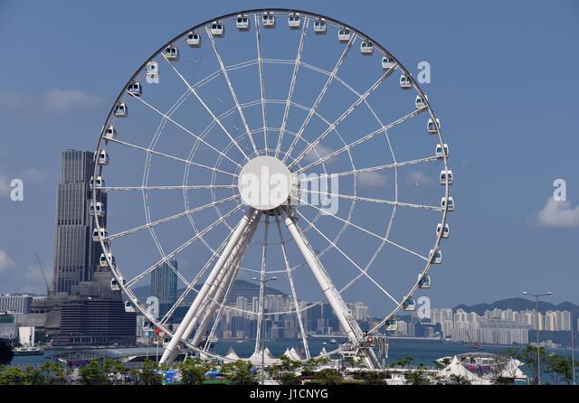 Ferris Wheel, Hong Kong - Stock Image