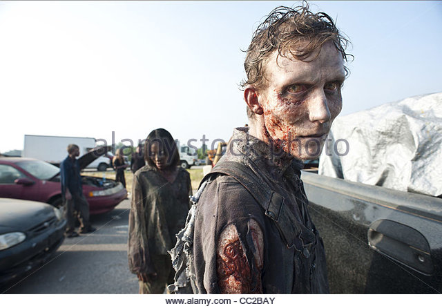 ZOMBIE THE WALKING DEAD (2010) - Stock Image