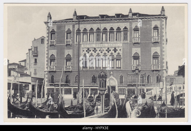 Hotel Danieli & Riva degli Schiavoni, Venice, Italy - Stock Image