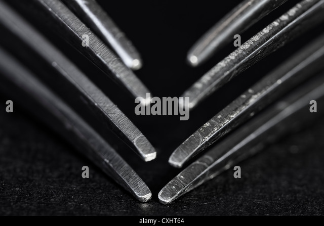 Fork Tines - Stock Image
