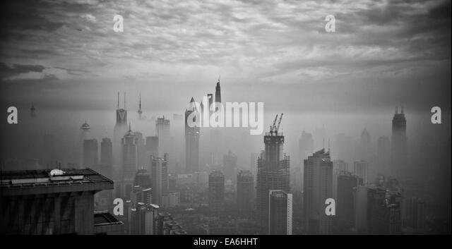 China, Shanghai, Cityscape - Stock Image