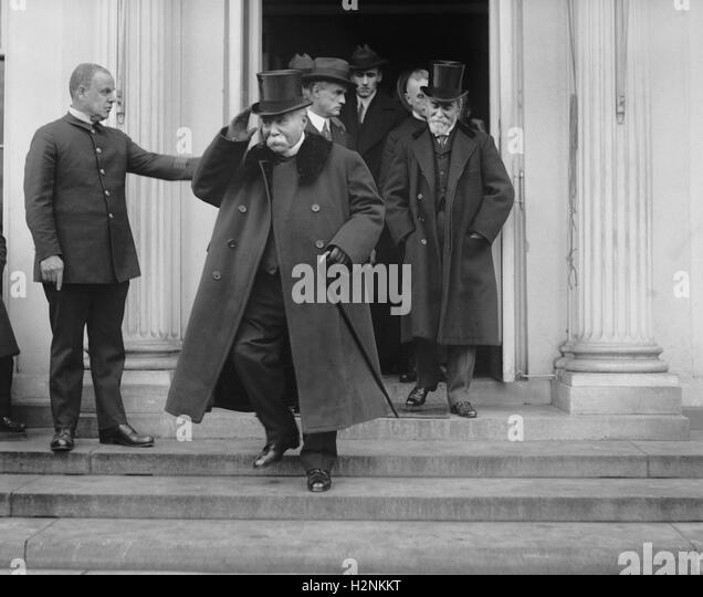 Former French Prime Minister Georges Clemenceau Leaving White House, Washington DC, USA, National Photo Company, - Stock Image