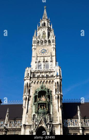City hall in Munich, Bavaria, the Federal Republic of Germany, Rathaus in Muenchen, Bayern, Bundesrepublik Deutschland - Stock-Bilder