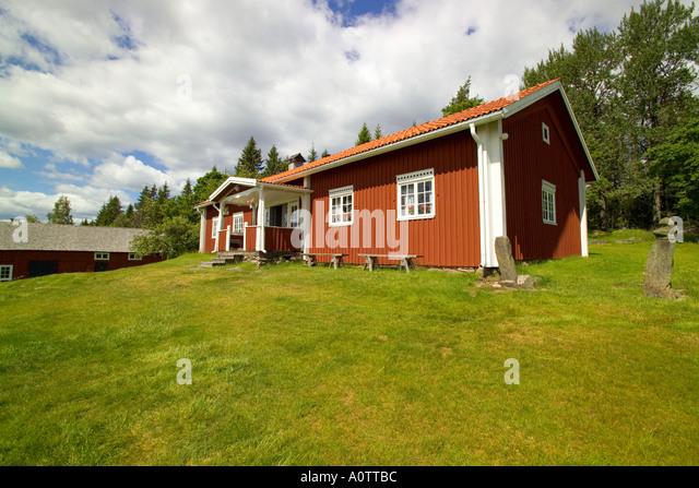Traditional Finnish House at Kvarntorp near Torsby in Varmland County Sweden - Stock-Bilder