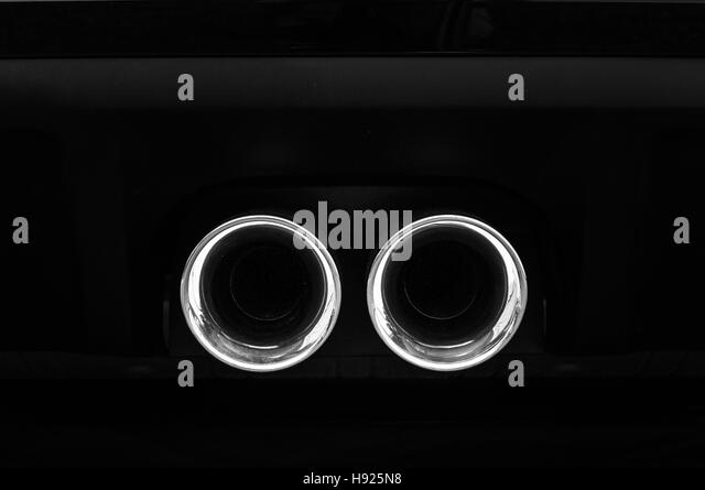 Sport muffler car background. - Stock Image