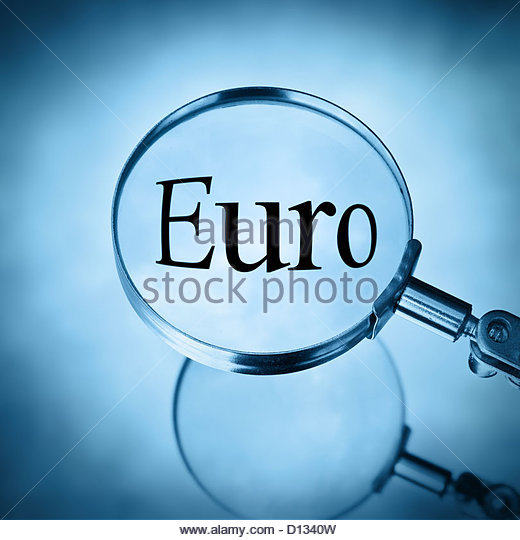 magnify euro - Stock Image