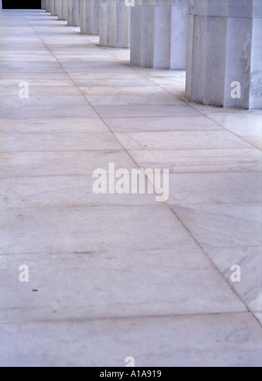 Columns of Lincoln Memorial, Washington D.C. - Stock Image