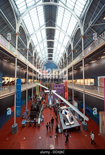 Helicopter at National Museum of Scotland interior, Chambers St Edinburgh city, Scotland UK EH1 1JF - Stock Image