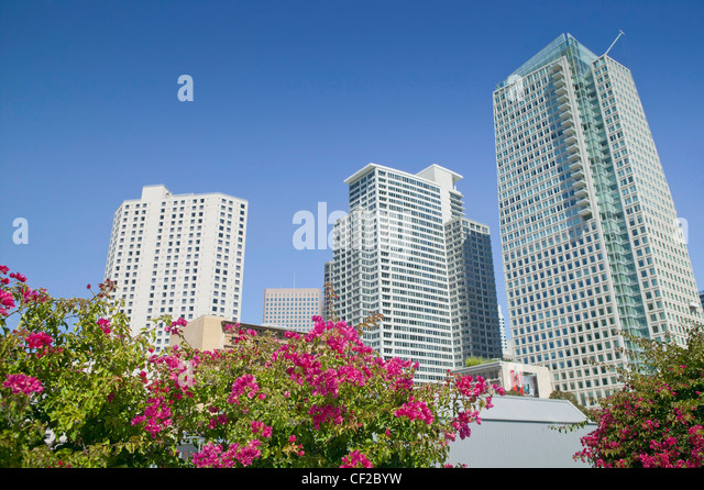 Yerba Buena Gardens; San Francisco California United States Of America - Stock Image