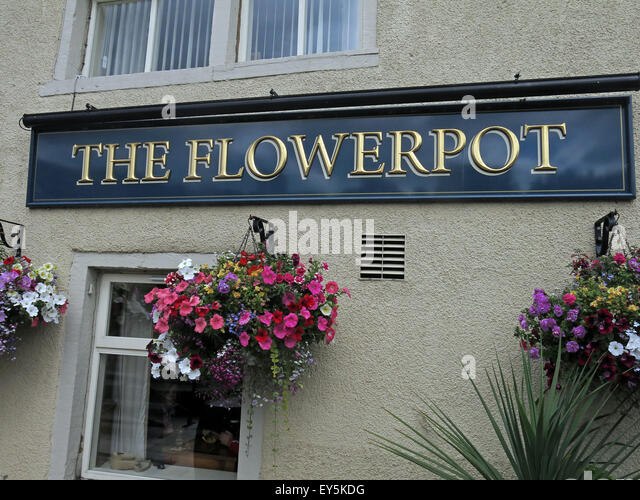 The Flowerpot, Mirfield, on the transpennine ale trail, Yorkshire, England, UK - Stock Image