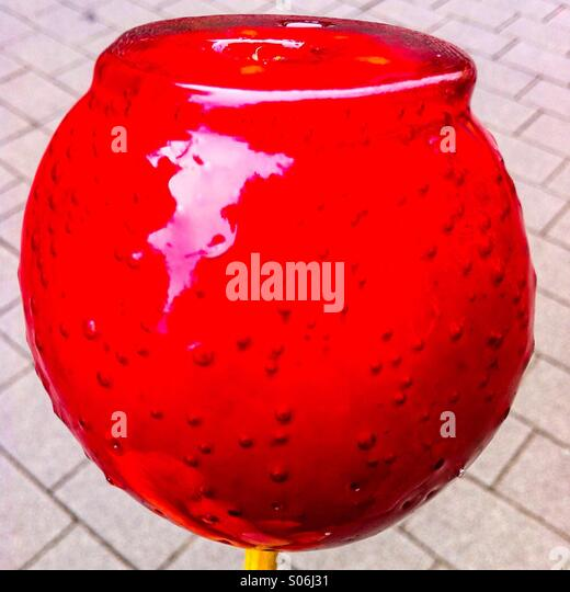 Red Candy Apple - Stock Image