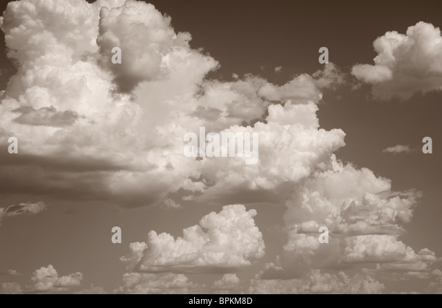Clouds and Sky in Black and White - Stock-Bilder