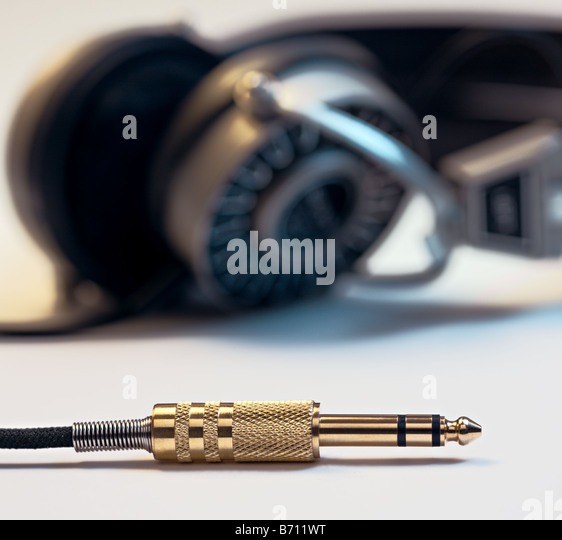 Headphone plug - Stock Image