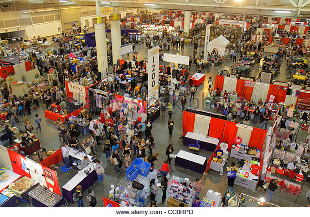 New Orleans Louisiana New Orleans Ernest N. Morial Convention Center centre event exhibit floor booth exhibitor - Stock Image