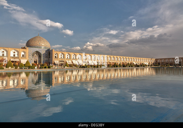 Isfahan (Persian: اصفهان‎ Esfāhān About this sound pronunciation (help·info)), historically also rendered in - Stock Image