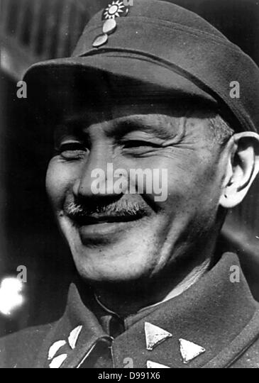 Chiang Kai-shek (October 31, 1887 – April 5, 1975) was a political and military leader of 20th century China - Stock Image