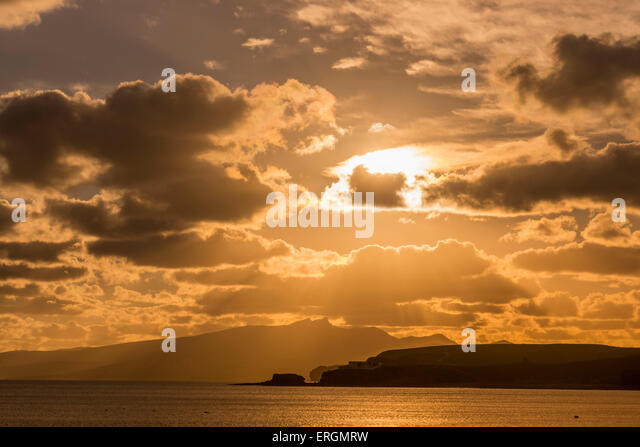 Sunset at Costa Calma, Fuerteventura, Canary Isalnds, spain - Stock Image