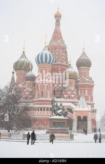 St. Basil's cathedral, Red Square, Moscow, Russia - Stock-Bilder