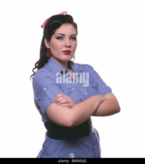 Young American woman 1940's style - Stock Image