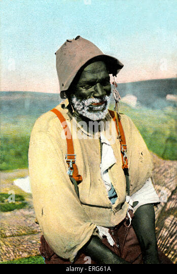Portrait of a black man on an early twentieth century American postcard, captioned 'Uncle Tom'. Uncle Tom - Stock Image