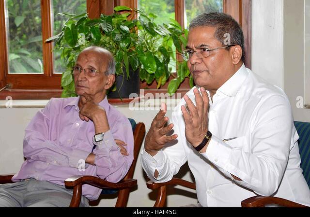 Arun Lakhani Maharashtra Badminton Association during a press conference to announce MBAÕs Mumbai - Stock Image