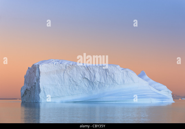 Iceberg at Sunset at Hall Bredning, Scoresbysund, Greenland - Stock-Bilder