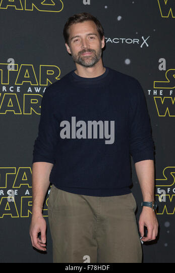 London, UK. 26 November 2015. Designer Patrick Grant attends the Star Wars Fashion Finds The Force event in support - Stock Image