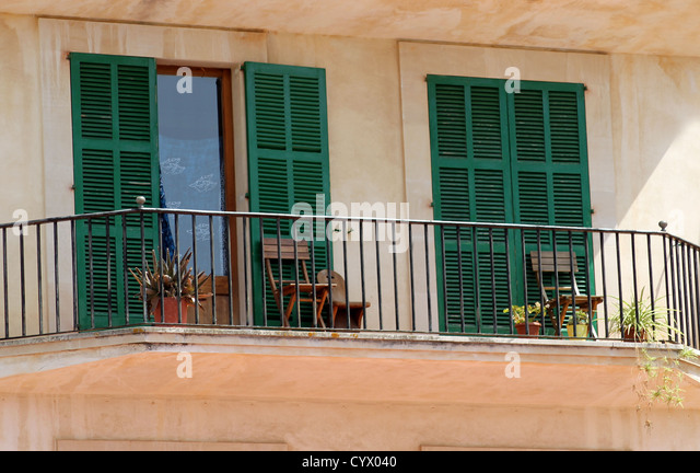 House balcony chairs stock photos house balcony chairs for Balcony in spanish
