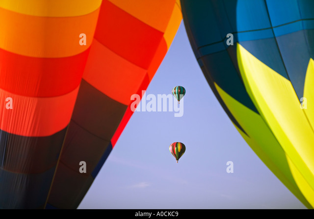 Balloons at Northwest Art and Air Festival Albany Oregon - Stock-Bilder